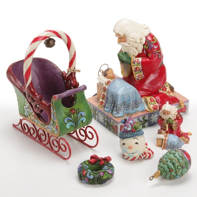 """Jim Shore """"Heartwood Creek"""" Resin Christmas Figurines and Ornaments"""