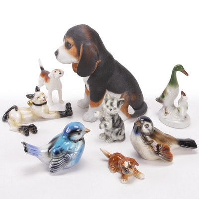 """Lenox """"Beagle Puppy"""" Porcelain Figurine with other German Animal Figures"""