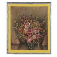 """Joseph Paul Di Gemma Mixed Media Painting """"Fragrant Memories-I"""", 1940"""