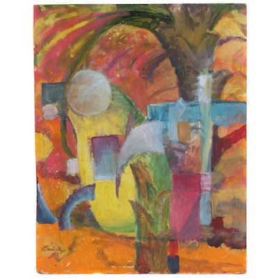 Thornton Utz Abstract Oil Painting