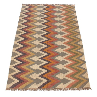 5'1 x 8'0 Handwoven Turkish Kilim Rug