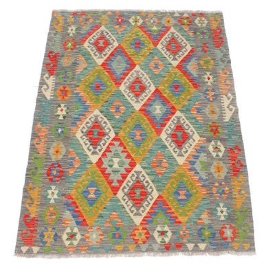 4'4 x 6'0 Handwoven Turkish Kilim Rug