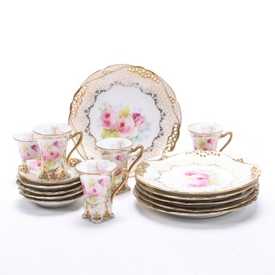 Royal Bayreuth Bavaria Tea Cups, Saucers and Dessert Plates