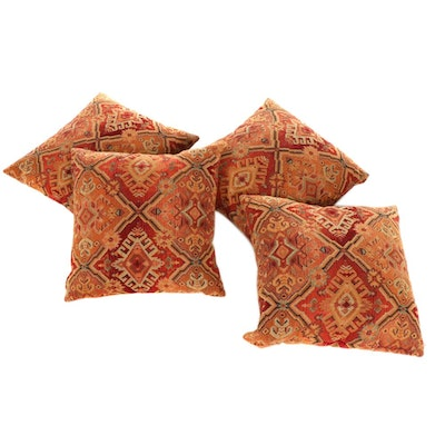"Pier 1 ""Theo"" Southwestern Style Woven Jacquard Square Pillows"