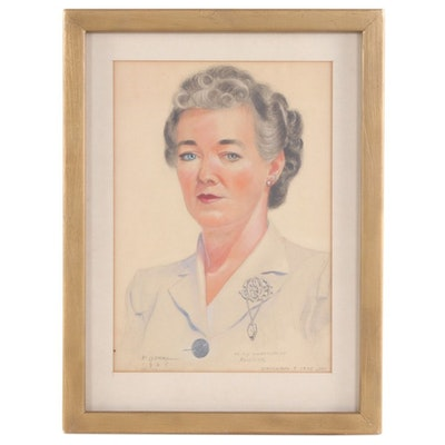 Female Portrait Pastel Drawing
