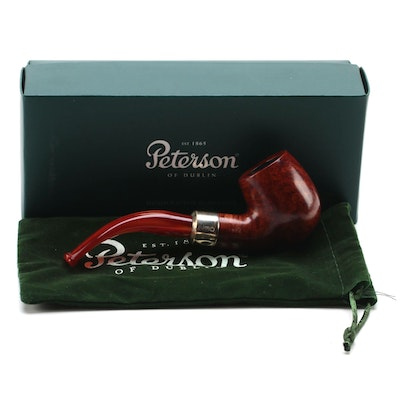 Peterson Pipe Orange Army B64 with Sterling Silver Band