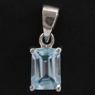 Sterling Silver Topaz Pendant