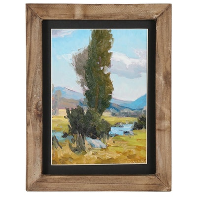 "Taylor J. Lynde Oil Painting ""Tall Boy"", 2020"