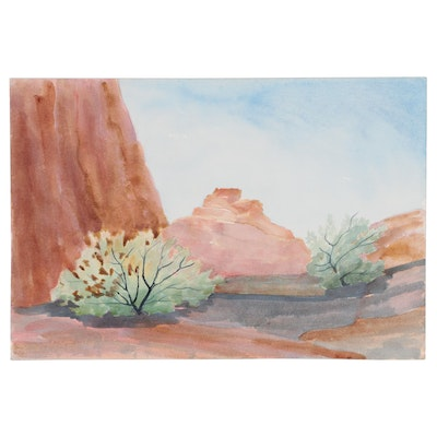 Ruth Ann Younglove Western Landscape Watercolor Painting