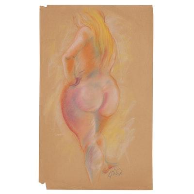 Hendrik Grise Nude Figure Pastel Drawing