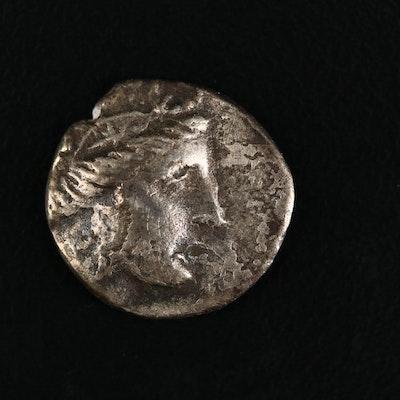 Ancient Euboia, Histaia AR Tetrobol Coin, ca. 196 B.C.