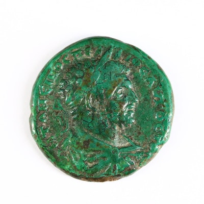 Ancient Roman Imperial AE26 Coin of Caracalla, Markianopolis Mint, ca. 198 A.D.