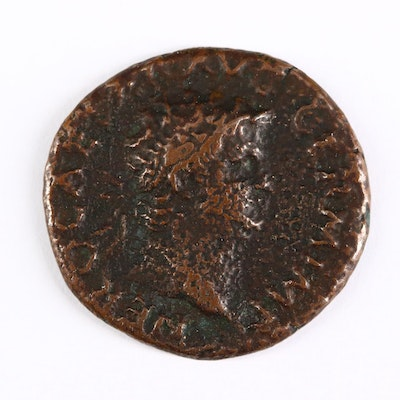 Ancient Roman Imperial AE As Coin of Nero, ca. 65 A.D.