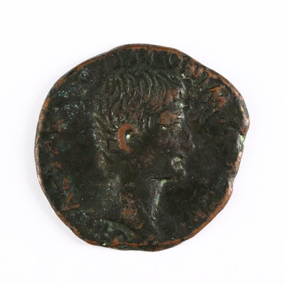 Ancient Roman Imperial AE As Coin of Augustus, ca. 7 B.C.