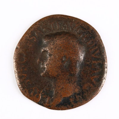 Ancient Roman Imperial AE As Coin of Drusus, ca. 21 A.D.