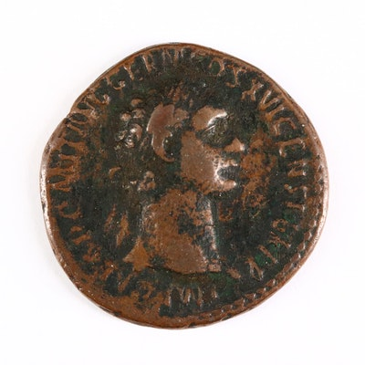 Ancient Roman Imperial AE As Coin of Domitian, ca. 92 A.D.
