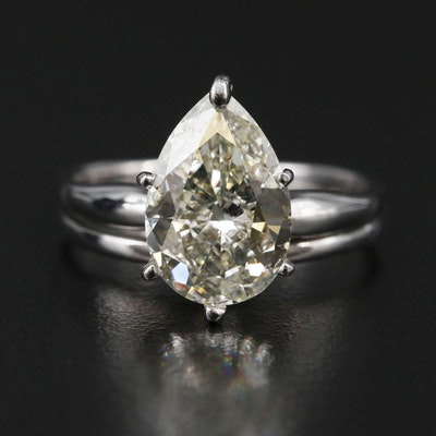 14K White Gold 3.00 CT Diamond Ring
