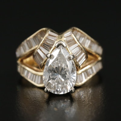 18K Yellow Gold 3.49 CTW Diamond Ring