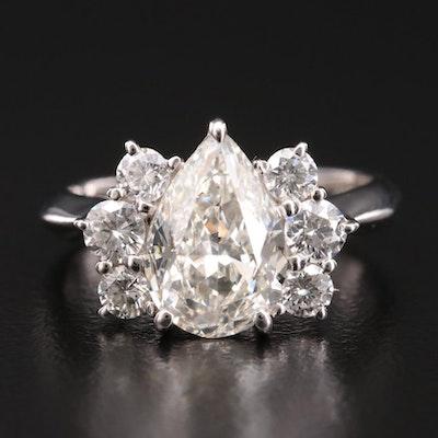 Platinum 2.63 CTW Diamond Ring