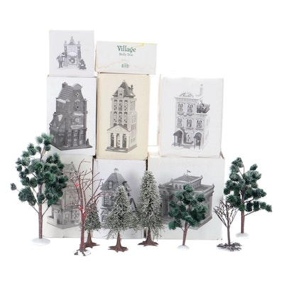 "Department 56 ""Christmas in the City"" Porcelain Buildings and Accessories"