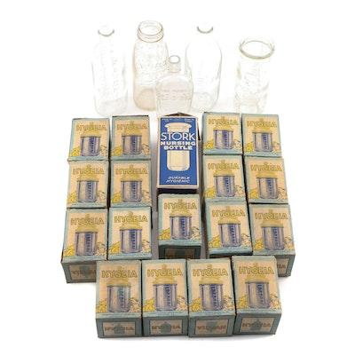 Hygeia and Stork Nursing Bottles in Original Packaging, Pat. Date 1894