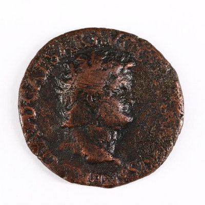 Ancient Roman Imperial AE As Coin of Nero, ca. 64 A.D.