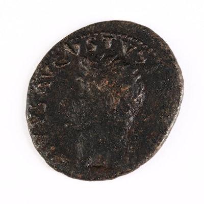 Ancient Roman Imperial AE As Coin of Divus Augustus, ca. 31 A.D.
