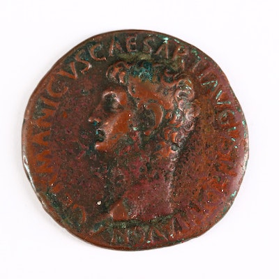 Ancient Roman Imperial AE As Coin of Germanicus, ca. 37 A.D.