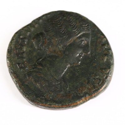 Ancient Roman AE Sestertius Coin of Faustina II, Posthumous Issue, ca. 176 A.D.