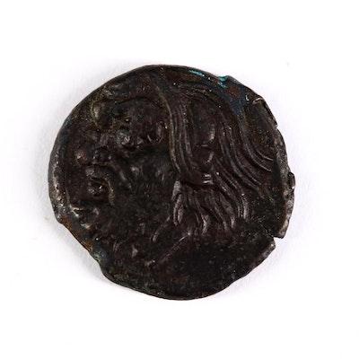 Ancient Thrace, Pantikapaion AE17 Bronze Coin, ca. 300 B.C.