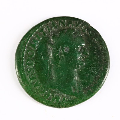 Ancient Roman Imperial AE As Coin of Domitian, ca. 85 A.D.