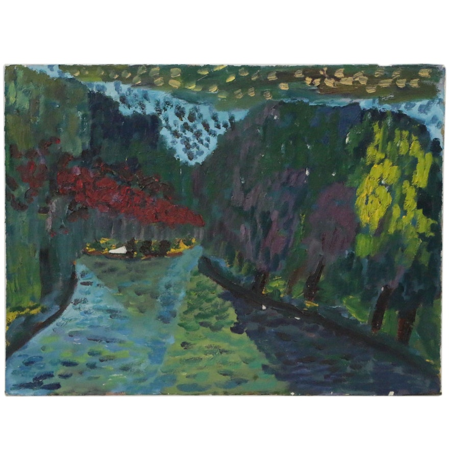 Jerald Mironov Abstract Landscape Oil Painting