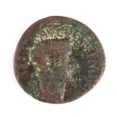 Ancient Roman Imperial AE As Coin of Tiberius, ca. 8 A.D.