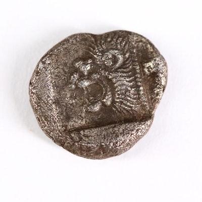 Ancient Mysia, Kyzikos AR Diobol Coin, ca. 480 B.C.
