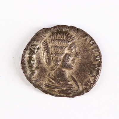 Ancient Roman Imperial AR Denarius of Julia Domna, ca. 200 A.D.