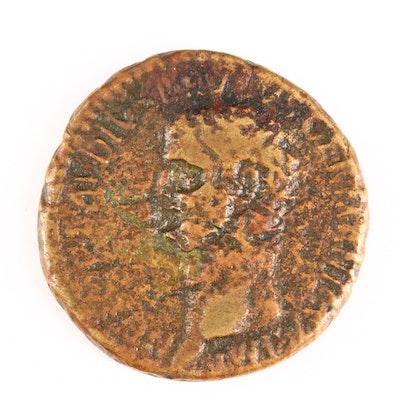 Ancient Roman Imperial AE Sestertius Coin of Nero Claudius Drusus, ca. 45 A.D.