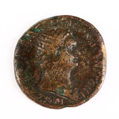 Ancient Roman Imperial AE Dupondius of Domitian, ca. 85 A.D.