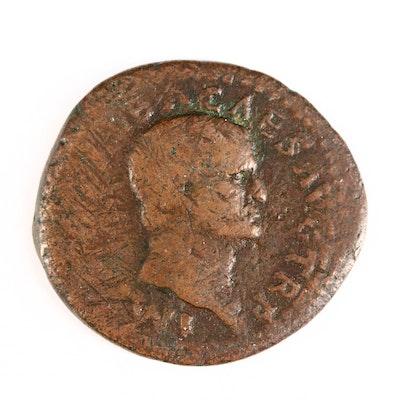 Ancient Roman Imperial AE As Coin of Galba, ca. 68 A.D.