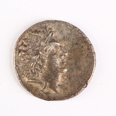 Ancient Cappadocia, Ariarathes IX Eusebes Philopator AR Drachm Coin, 90 B.C.