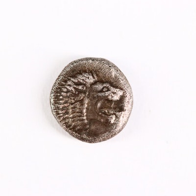 Ancient Ionia, Miletos AR Diobol (1/12th Stater) Coin, 6th Century B.C.