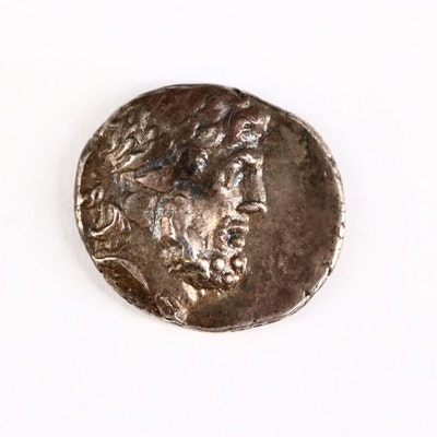 Ancient Karia, Stratonikeia AR Hemidrachm Coin, ca. 150 B.C.