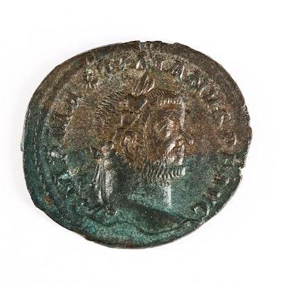Ancient Roman Imperial AE Follis Coin of Maximianus, First Reign, ca. 298 A.D.