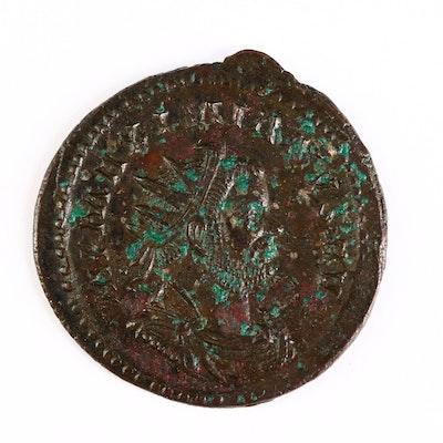 Ancient Roman Imperial AE Antoninianus Coin of Maximianus, ca. 290 A.D.