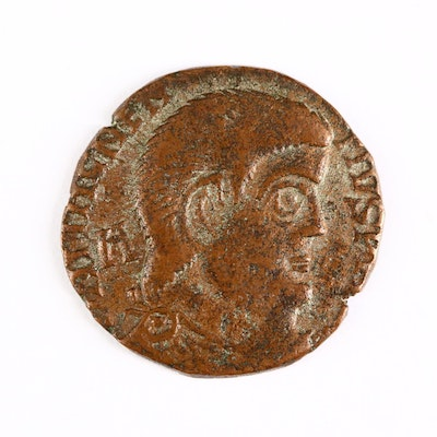 Ancient Roman Imperial AE3 Coin of Magnentius, ca. 350 A.D.