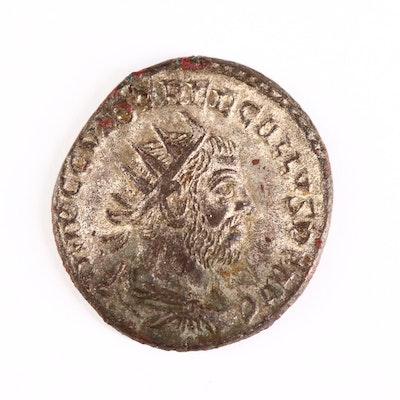 Ancient Roman Imperial AR Antoninianus Coin of Trebonius Gallus, ca. 251 A.D.