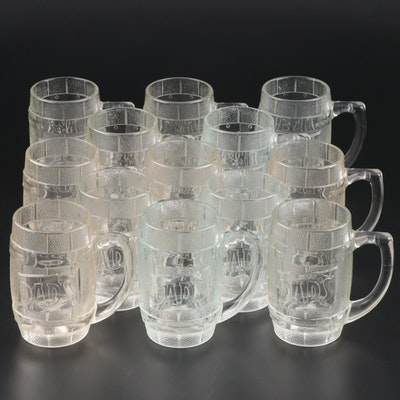 Dad's Root Beer Glass Barrel Mugs, Mid to Late 20th Century