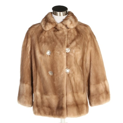 Mink Fur Double-Breasted Jacket From Benioff's