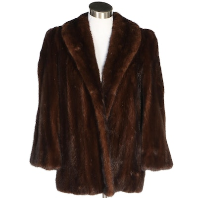 Dyed Mahogany Marten Fur Jacket Designed by Mr. J for Ivey's