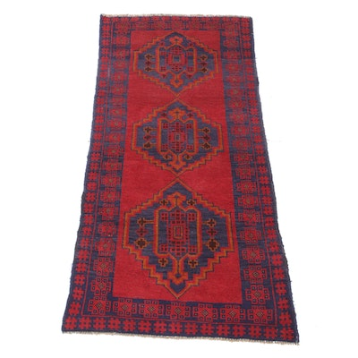 3'3 x 6'5 Hand-Knotted Afghani Baluch Rug