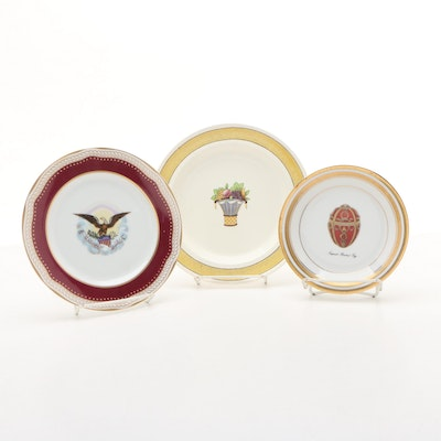 "Faberge ""Imperial Rosebud Egg"", White House Dessert Collection, and other Plate"